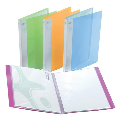 Rexel Ice Display Book Polypropylene 20 Pockets A4 Assorted Ref 2102038 [Pack 10]