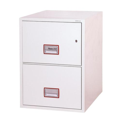 Phoenix Firefile Filing Cabinet Fire Resistant 2 Lockable Drawers 140Kg W525xD675xH720mm Ref FS2252K