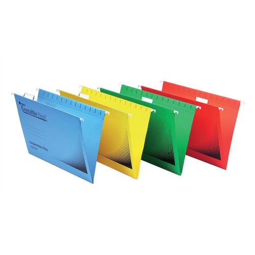 Rexel Crystalfile Flexifile Plastic Tabs Clear Ref 3000057 [Pack 50]