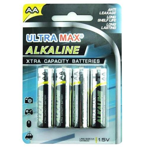 5 Star Value Alkaline Batteries AA [Pack 4]