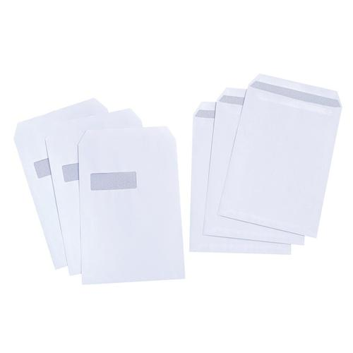 5 Star Value Envelopes Pocket Press Seal Window 90gsm C4 324x229mm White [Pack 250]