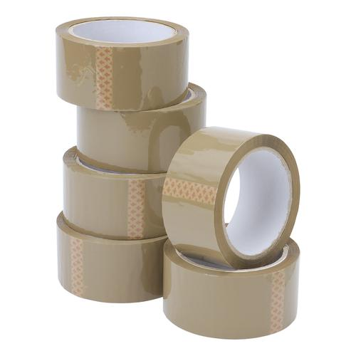 5 Star Value Packaging Tape 48mmx66m Buff [Pack 6]