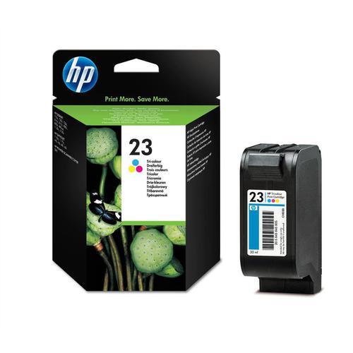 Hewlett Packard [HP] No.23 Inkjet Cartridge Page Life 620pp 30ml Tri-Colour Ref C1823D