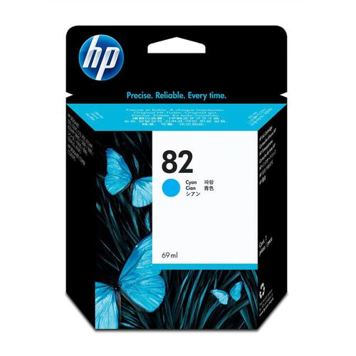 Hewlett Packard [HP] No.82 Inkjet Cartridge High Yield 1430pp 69ml Cyan Ref C4911A