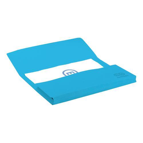 Elba StrongLine Manilla Document Wallet 320gsm 32mm Foolscap Blue Ref 100090140 [Pack 25]