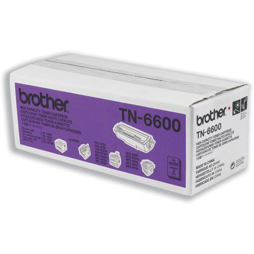 Brother Laser Toner Cartridge High Yield Page Life 6000pp Black Ref TN6600