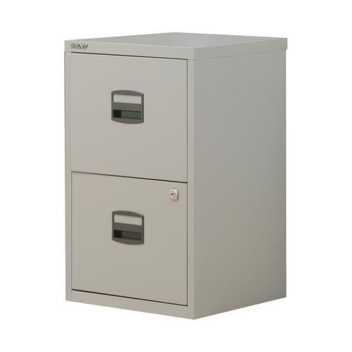 Trexus Soho A4 2 Drawer Cabinet Grey 413x400x672mm Ref 677876