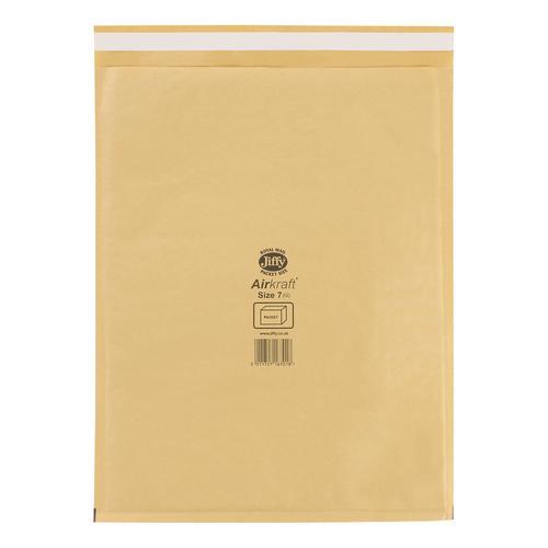 Jiffy Airkraft Bubble Bag Envelopes Size 7 Gold 340x445mm Ref JL-GO-7 [Pack 50]