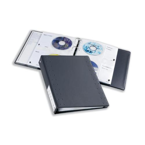 Durable CD And DVD Index Ring Binder Holds 60 Disks A4