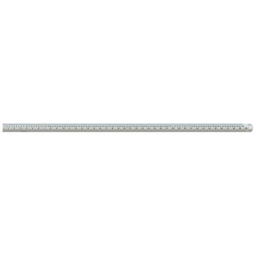 Linex Ruler Stainless Steel Imperial and Metric with Conversion Table 1000mm Silver Ref LXESL100