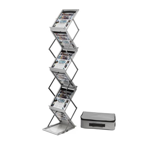 Literature Display Folding Concertina Floor Stand 6 x A4 Shelves