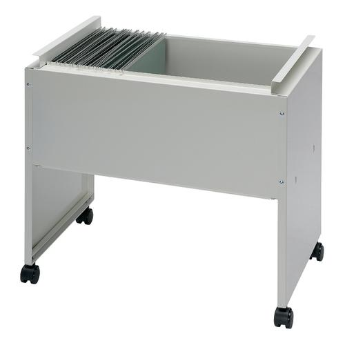 Universal Filing Trolley Steel Capacity 120 A4 or Foolscap Susp Files W650xD420xH580mm Grey