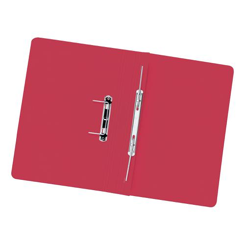 5 Star Elite Transfer Spring File Heavyweight 315gsm Capacity 38mm Foolscap Red [Pack 50]