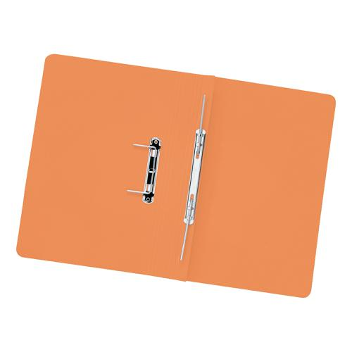 5 Star Elite Transfer Spring File Heavyweight 315gsm Capacity 38mm Foolscap Orange [Pack 50]