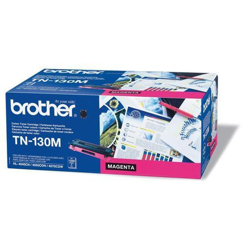 Brother Laser Toner Cartridge Page Life 1500pp Magenta Ref TN130M