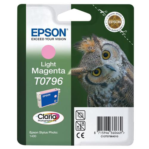 Epson T0796 Inkjet Cartridge Owl High Yield Page Life 975pp 11ml Light Magenta Ref C13T07964010
