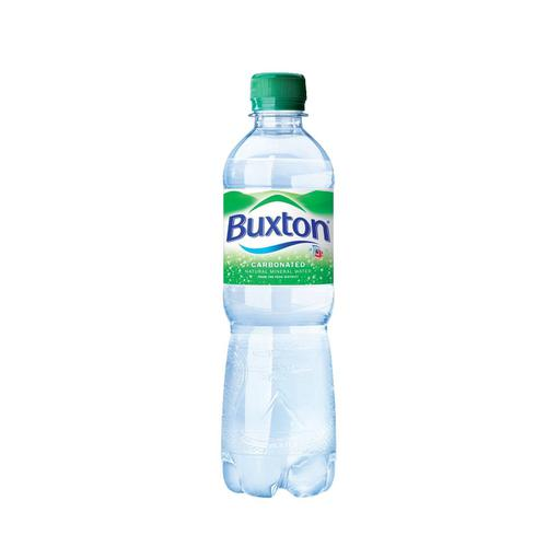 Buxton Natural Mineral Water Sparkling Bottle Plastic 500ml Ref 742895 [Pack 24]