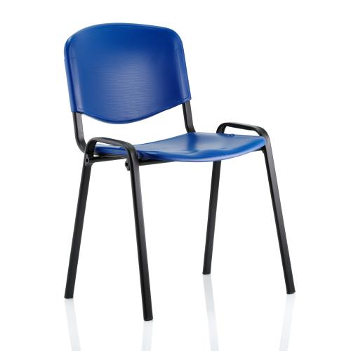 Trexus Stacking Chair Blue Poly 470x420x450mm Ref 746183