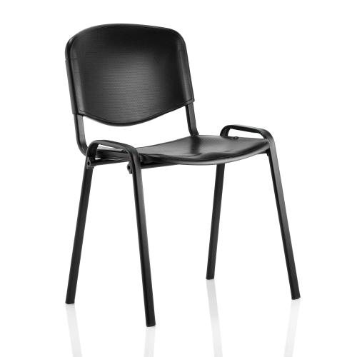 Trexus Stacking Chair Black Poly 470x420x450mm Ref BR000056