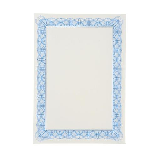 Certificate Papers with Foil Seals 90gsm A4 Blue Reflex [30 Sheets]