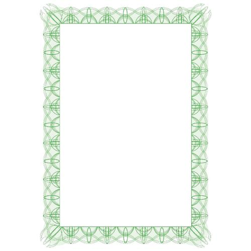 Certificate Papers with Foil Seals 90gsm A4 Green Reflex [30 Sheets]