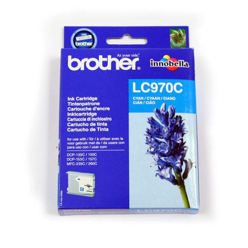 Brother Inkjet Cartridge Page Life 300pp Cyan Ref LC970C