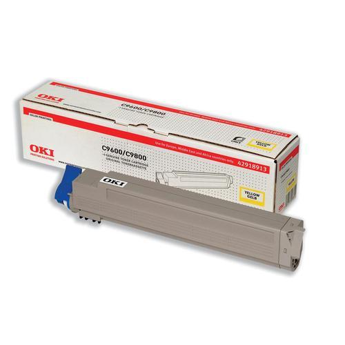 OKI Laser Toner Cartridge Page Life 15000pp Yellow Ref 42918913
