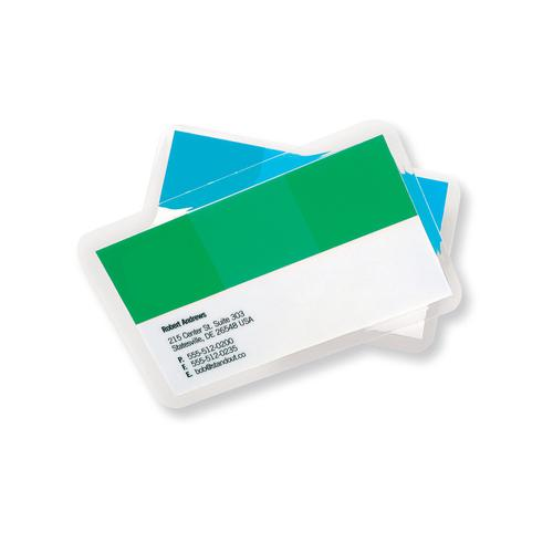 GBC Laminating Pouches 250 Micron Business Card 60x90mm Gloss Ref 3743157 [Pack 100]