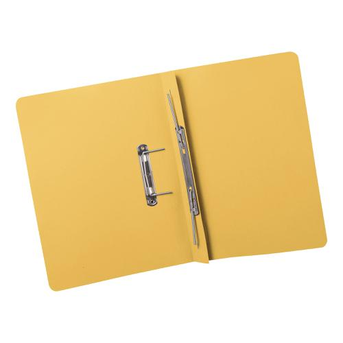5 Star Elite Transfer Spring File Super Heavyweight 420gsm Capacity 38mm Foolscap Yellow [Pack 25]