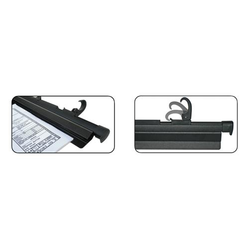 Arnos Hang-A-Plan QuickFile Frnt Load Binder Quick Rele Lever Full-length Clamp W650mm A1 Black Ref D200B