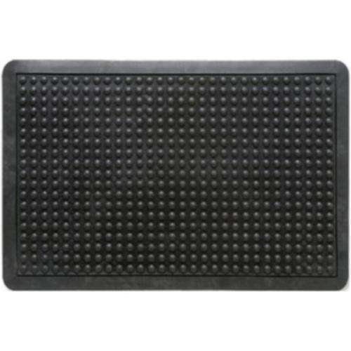Doortex Anti-fatiguemat Mat Rubber Bevelled Edge Bubble Texture 610x910mm Black Ref FCAF6191
