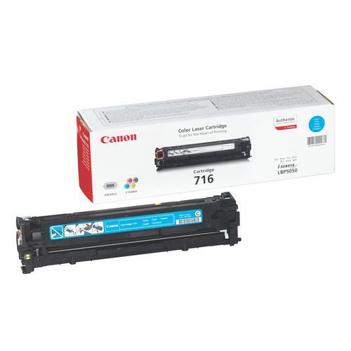 Canon 716C Laser Toner Cartridge Page Life 1500pp Cyan Ref 1979B002