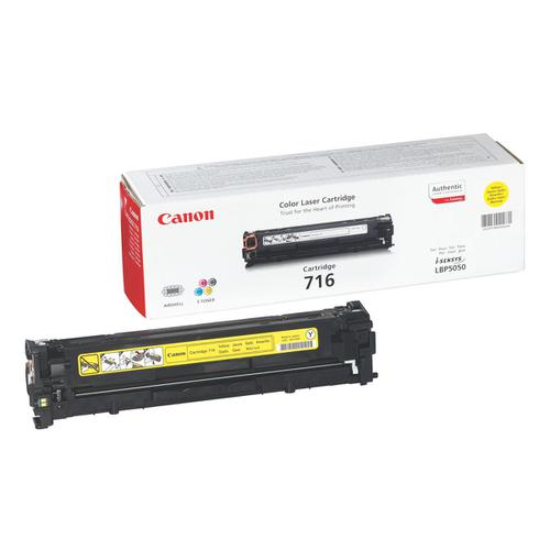Canon 716Y Laser Toner Cartridge Page Life 1500pp Yellow Ref 1977B002