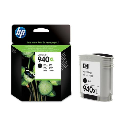 Hewlett Packard [HP] No.940XL Officejet Inkjet Cart High Yield Page Life 2200pp 49ml Black Ref C4906AE