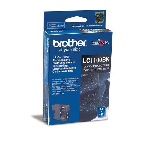 Brother Inkjet Cartridge Page Life 450pp Black Ref LC1100BK
