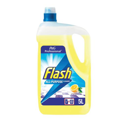 Flash All Purpose Cleaner for Washable Surfaces 5 Litres Lemon Fragrance Ref 1014001