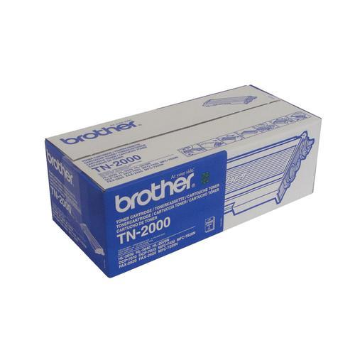 Brother Laser Toner Cartridge Page Life 2500pp Black Ref TN2000