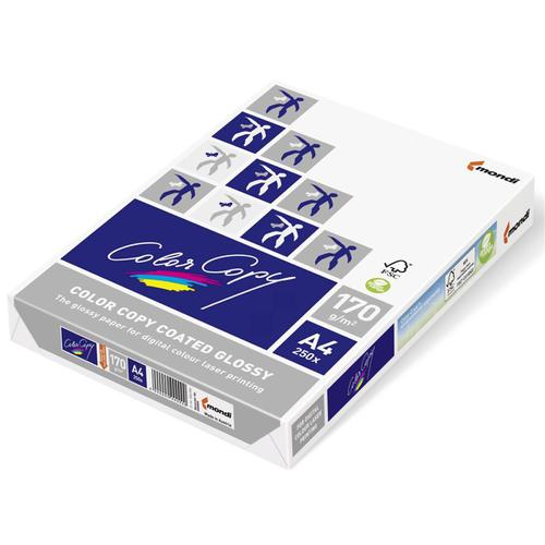Color Copy Card Premium Coated Glossy A4 170gsm FSC White Ref CCG0170 [250 Sheets]