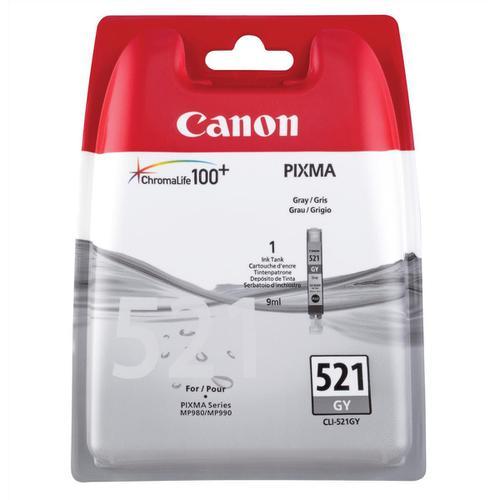 Canon CLI-521GY Inkjet Cartridge Page Life 1370pp 9ml Grey Ref 2937B001AA