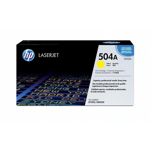 HP 504A Laser Toner Cartridge Page Life 7000pp Yellow Ref CE252A