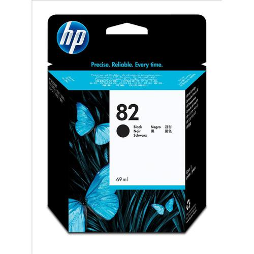 Hewlett Packard [HP] No.82 Inkjet Cartridge High Yield 3200pp 69ml Black Ref CH565A
