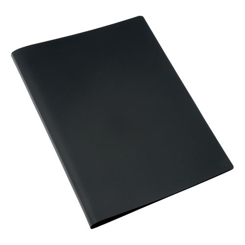 5 Star Office Display Book Soft Cover Lightweight Polypropylene 20 Pockets A4 Black