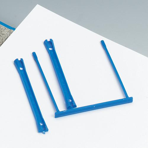 5 Star Office Filing Clip Polypropylene Blue [Pack 100]