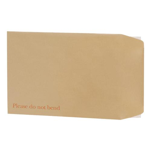 5 Star Office Envelopes Recycled Board Backed Hot Melt Peel & Seal 241x178mm 120gsm Manilla [Pack 125]
