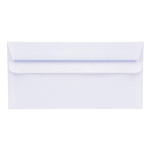 5 Star Office Envelopes PEFC Wallet Self Seal 90gsm DL 220x110mm White [Pack 500]