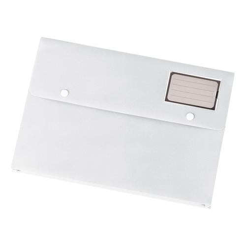 5 Star Office Document Wallet with Card Holder Polypropylene A4 White [Pack 3]