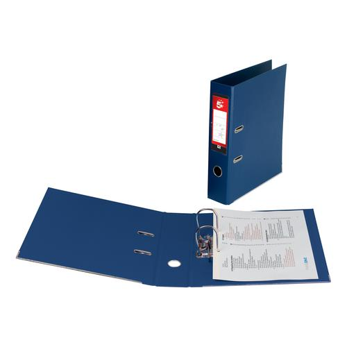5 Star Office Lever Arch File Polypropylene Capacity 70mm Foolscap Royal Blue [Pack 10]