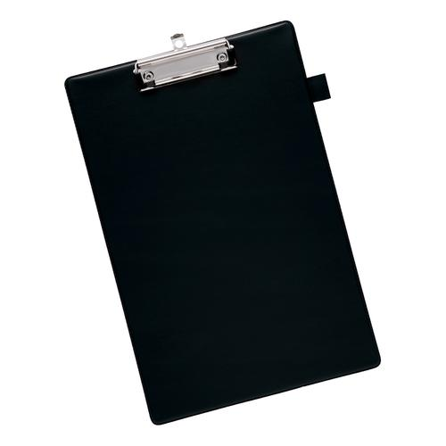 5 Star Office Standard Clipboard with PVC Cover Foolscap Black