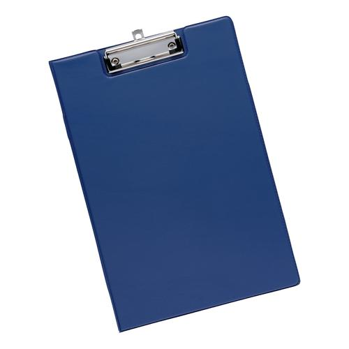 5 Star Office Fold-over Clipboard with Front Pocket Foolscap Blue