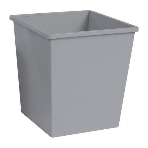5 Star Facilities Waste Bin Square Metal Scratch Resistant 27 Litres 325x325x350mm Metallic Silver